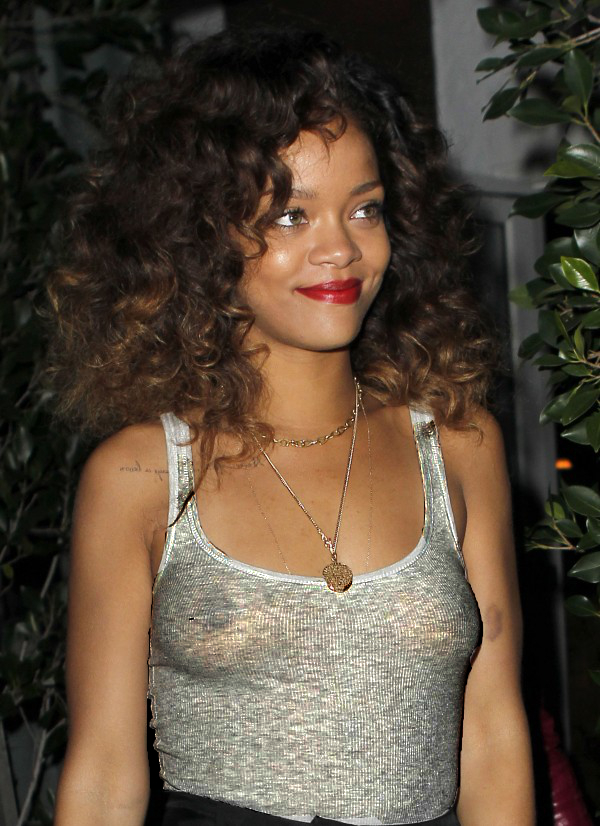 Rihanna See through Wife Beater