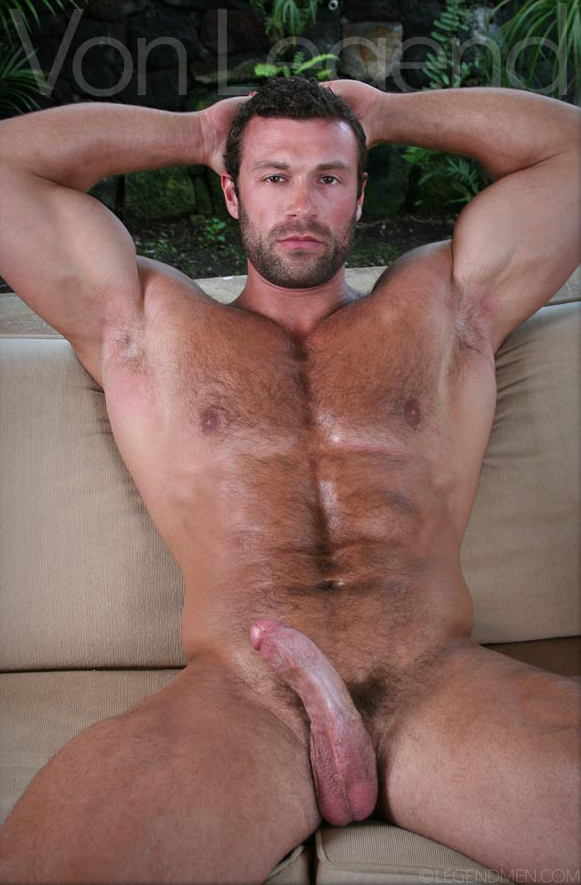 Hairy black muscle naked