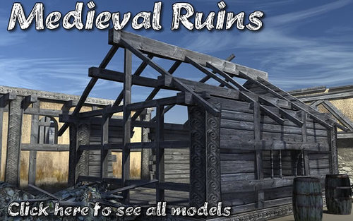 Medieval Ruins model pack by DEXSOFT-GAMES