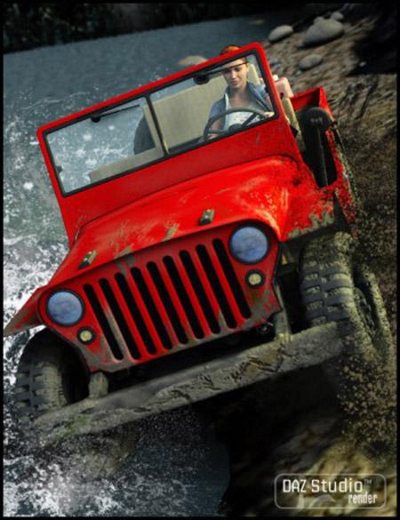 WWII Jeep - WWII Jeep Plus - Grungy Jeeps