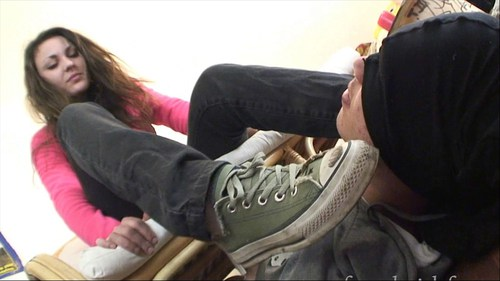 Forced To Smell Tiphanie Stinky Socks And Feet Female Domination