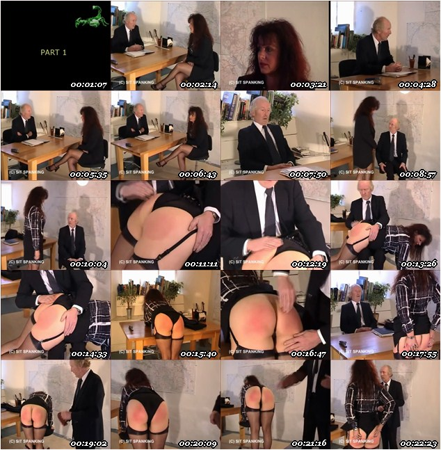 Teacher Taught Again Spanking