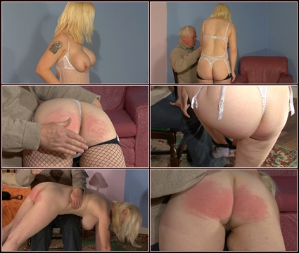 Bare Bottom Spanked  Spanking