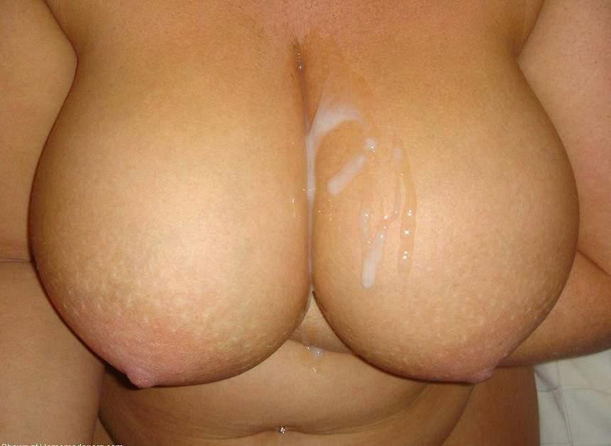 Cum covered in Amateur jugs