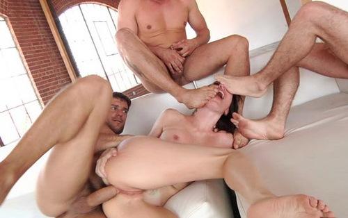 2 lesbians banged by few guys 8