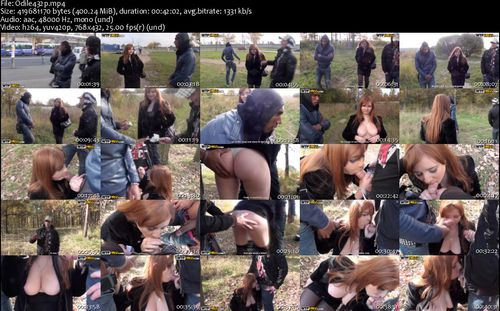 My Pickup Girls - Odile (Awesome Outdoor Porn Vid With A Redhead)