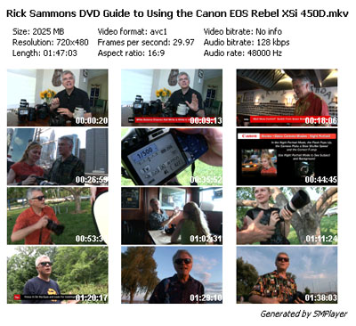 WUP] Canon EOS Rebel XSi Guide with Rick Sammon DVD