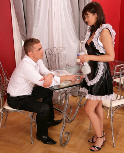 Rita - Hott Maid takes her cream with her coffee
