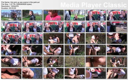 Hot pick up sex scene in the park