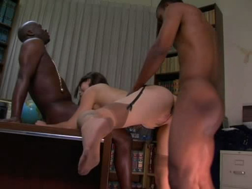 2 black man abuse office girl