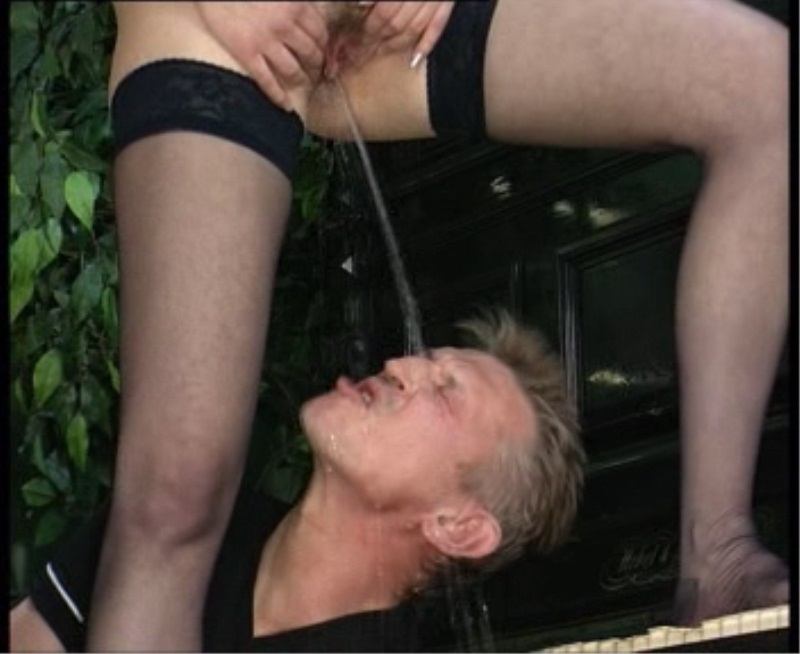 Boys piss in girls mouth