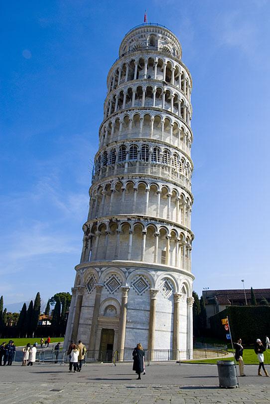 escalera torre pizza: