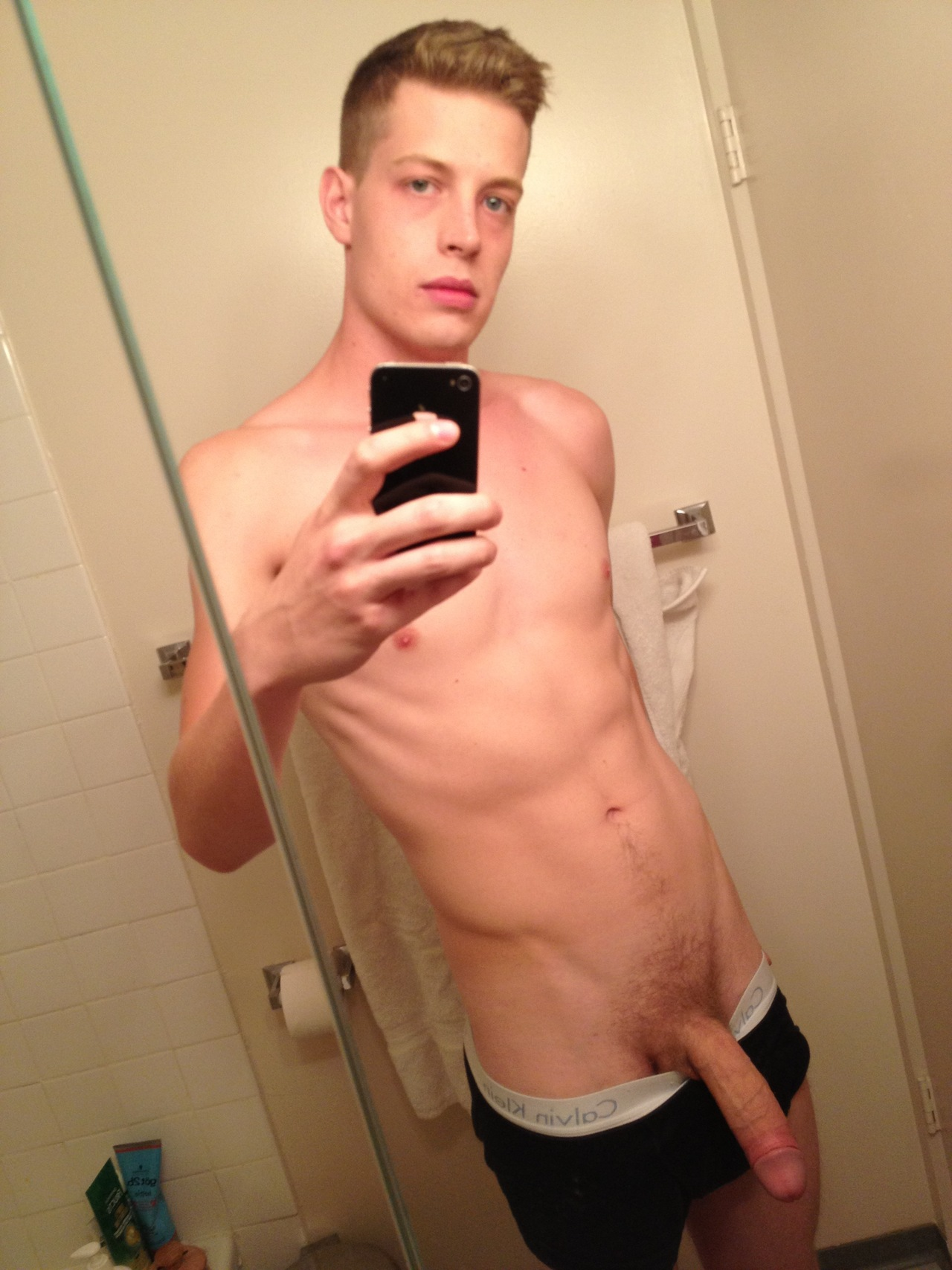 Boy show his small dick