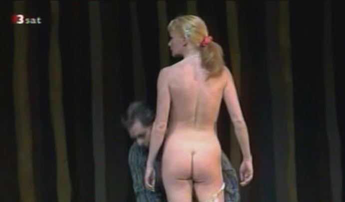 girl gets naked on stage
