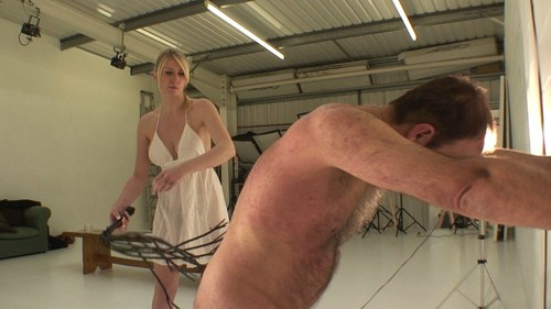 Extreme Cat In White Dress Femdom