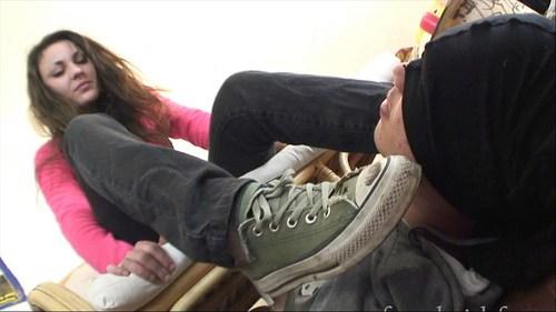 Forced To Smell Tiphanie Stinky Socks And Feet Femdom