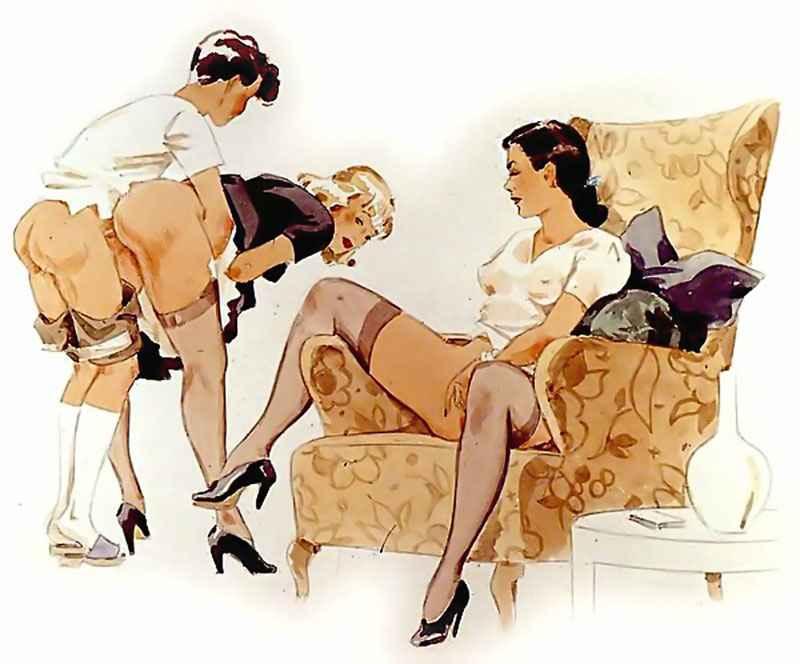Vintage adult erotic cartoon